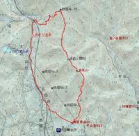 高尾山~三角点関柱~鉄塔No.69分岐下降 - 阿讃の山と谷