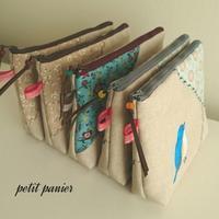 小鳥の刺繍ポーチ - petit panier * note