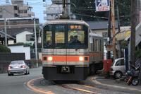 道路と軌道が併設~♪(熊本電鉄)。 - もりじいの備忘録。