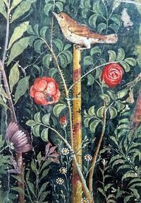 ポンペイのバラの壁画~バラと人との物語 - 元木はるみのバラとハーブのある暮らし・Salon de Roses