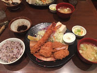 金沢(東力町):とんかつ堂「岩中豚赤身&エビ&ヒレMIX定食」 - ふりむけばスカタン