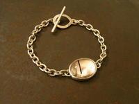 トルマリン入り水晶ブレスレット - 石と銀の装身具