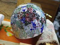 薔薇と葡萄のランプ進捗状況 - ステンドグラスルーチェの日常
