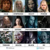映画The Lord of the Ringsのキャラをメタルに例えると - 帰ってきた、モンクアル?