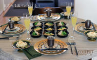 お料理が入ってテーブルは完成です。 - アン・クベールのおもてなし教室