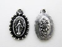 聖母マリアの不思議のメダイ - 手作りのある暮らし アクセサリーパーツPron
