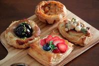パン教室で「4種のデニッシュ」マロンとアメリケーヌグラタン(パン・スイーツ部門) - Takacoco Kitchen