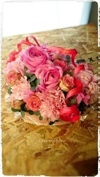 福岡フラワーアレンジメント教室・ハートアレンジ - 福岡パリスタイルフラワーアレンジメント教室 Chez le dill fleur   シェ・ル・ディル・フルール