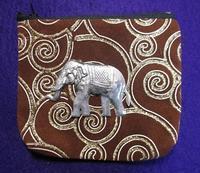 インド象のポーチ(インド製) - 軍装品・アンティーク・雑貨 展示館