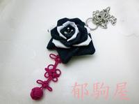 デニム生地の薔薇 - 郁駒屋