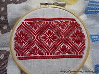 自宅使いプラトーク用留め具のための刺繍 - ロシアから白樺細工