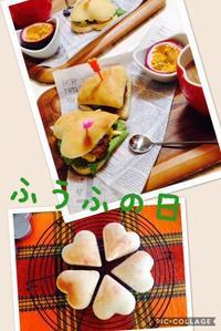 ♡型サンドイッチでふうふの日('ω') - ほっこりしましょ。。