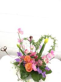 バレンタインはグリーンのハート - **おやつのお花*   きれい 可愛い いとおしいをデザインしましょう♪
