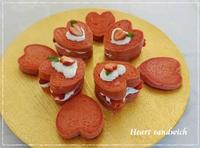 ピンクハートdeいちごのサンドイッチ☆「パン・スイーツ部門」 - パンのちケーキ時々わんこ