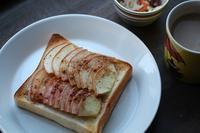 朝ごはん2.5焼きりんごトースト - polepoleな日々
