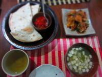 粉もの多めの晩ご飯 - 恵茶房 meg tea labo
