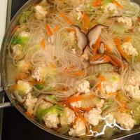 【スープ】鶏ひき肉と白菜の春雨スープ - 野口家のふだんごはん ~レシピ置場~