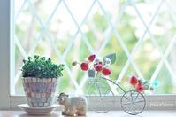 布花のイチゴ&クモマグサ - felice*poco