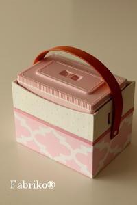 ガーリーテプラ収納ボックスのオーダー - Fabrikoのカルトナージュ ~神戸のアトリエ~