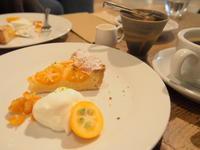 金柑とクリームチーズのタルト&フルーツサンド:zilch@弘前中三 - 津軽ジェンヌのcafe日記