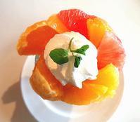 柑橘パフェ - お昼ごはんはパフェ