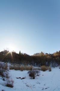 2月12日快晴の朝 - 日々GILIGILI