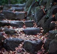 Ancient stone stairs - Mon's cafe