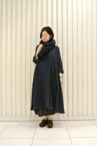Linen Side Gather Tunic & Linen Big Stole - JUILLET