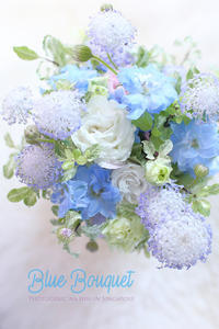 FLOWER #25 Pastel Blue BOUQUET&おかしなメール - フォトジェニックな日々