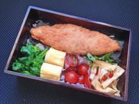 2/14白身魚のフライ弁当 - ひとりぼっちランチ
