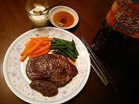 晩ごはんは 赤身肉ダイエット~♪ - よく飲むオバチャン☆本日のメニュー