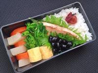 2/15メカジキの生姜焼き弁当 - ひとりぼっちランチ