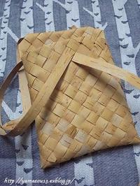 自宅使い簡易バックを編み始める - ロシアから白樺細工