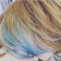 インナーカラーターコイズ - 空便り 髪にやさしいヘアサロン 髪にやさしいヘアカラー くせ毛を愛せる唯一のサロン
