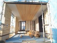 ガレージと中二階のある家④(大工工事、外壁工事) - ㈱栃毛木材工業