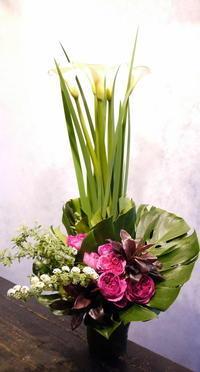 お誕生日の女性へ。南6西5のビル5階にお届け。 - 札幌 花屋 meLL flowers