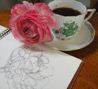 描いた絵に合わせて飲むコーヒー~至福の時間 - あなたらしい絵を描くために
