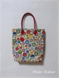 A4サイズの手さげバッグ - 今日も元気で♪♪ Atelier Bonheur