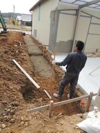 「通じる家/岡崎」土留め擁壁工事開始 - KANO空感設計のあすまい空感日記