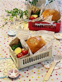 手作りバンズで海老カツバーガー弁当♪ - ☆Happy time☆