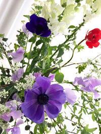 white & black  器を変えて* - **おやつのお花*   きれい 可愛い いとおしいをデザインしましょう♪