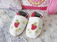 イチゴがかわいい革製室内履き☆ - ドイツより、素敵なものに囲まれて①