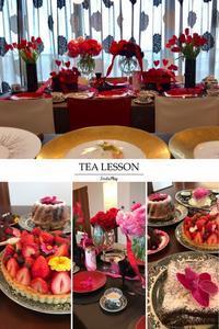 2月のバレンタインレッスン終了 - Table & Styling blog