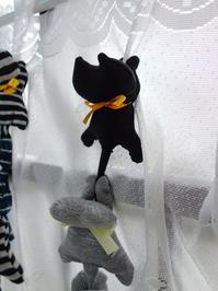久々の黒猫クリップ - 月夜飛行船