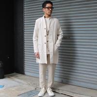 綿麻の豊かな表情を存分に感じる春コート。 - AUD-BLOG:メンズファッションブランド【Audience】を展開するアパレルメーカーのブログ