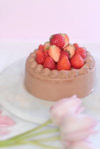 いちごチョコケーキ - アルフの粉修行