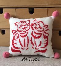 2匹の猫 - 「Stitch +」 haruのクロスステッチ
