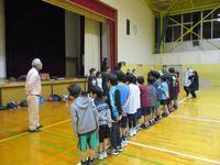卒団式前 - 日出ミニバスケットボール