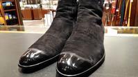 【実験してみた】続・スエード靴のハイシャイン!?② - シューケアマイスター靴磨き工房 銀座三越店