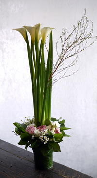四十九日に。月寒東5条にお届け。 - 札幌 花屋 meLL flowers